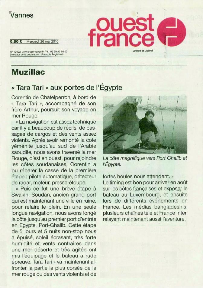 #TaraTari aux portes de l'Egypte – Ouest France
