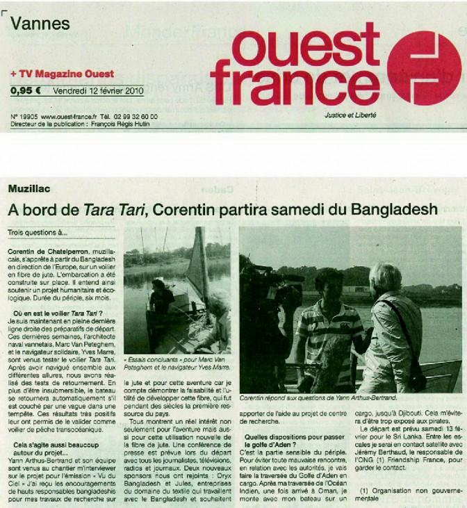 #TaraTari – Départ – Ouest France