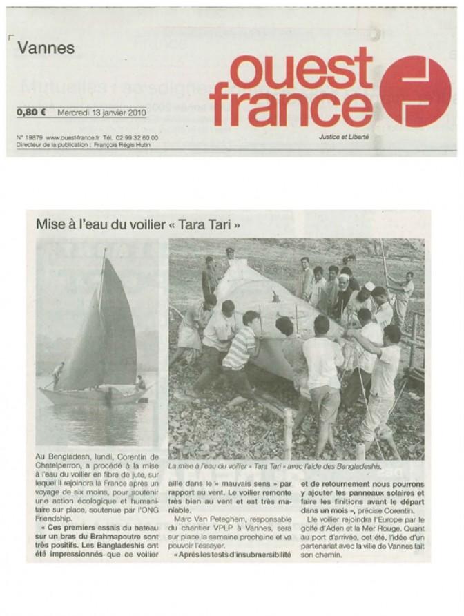 #TaraTari – Mise à l'eau – Ouest France