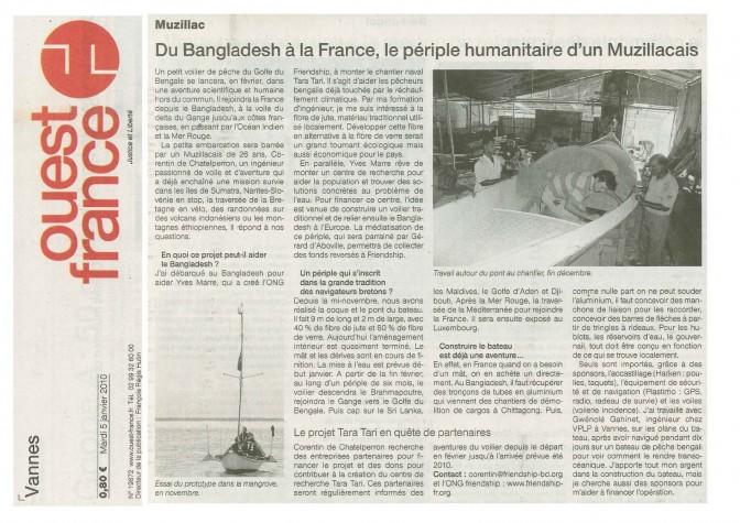 #TaraTari – Du Bangladesh à la France, le périple humanitaire d'un muzzillacais – Ouest France