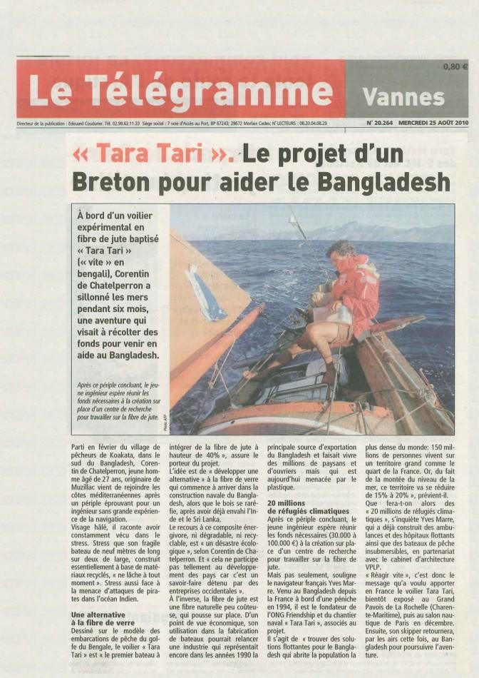 #TaraTari – Le projet d'un breton pour aider le Bangladesh – Le Télégramme
